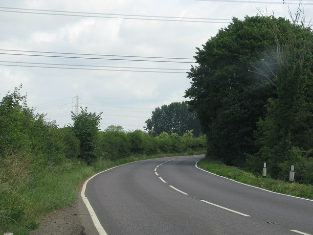 Bend in the B4058 near Frampton Cotterell