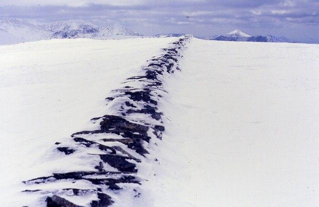 Deep snow on Foel Fras