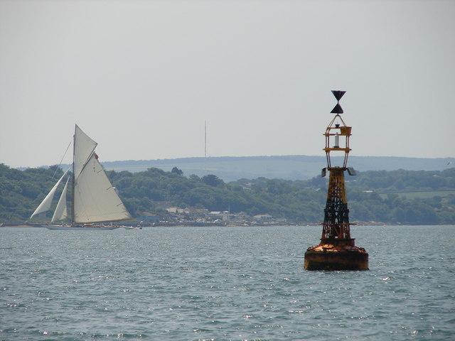 West Bramble west cardinal buoy
