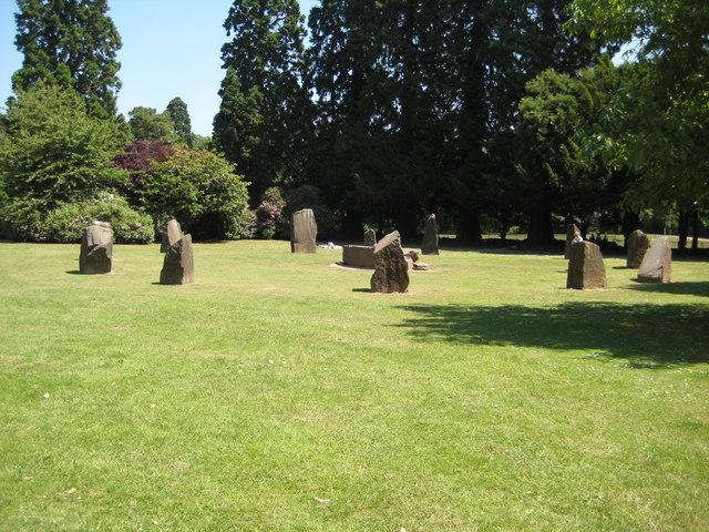 Stone circle, Tredegar