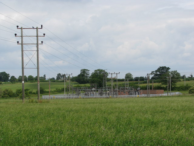 Electricity sub-station by Charfield Hill