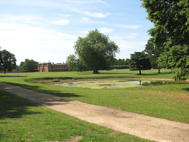 A pond in Houghton Park