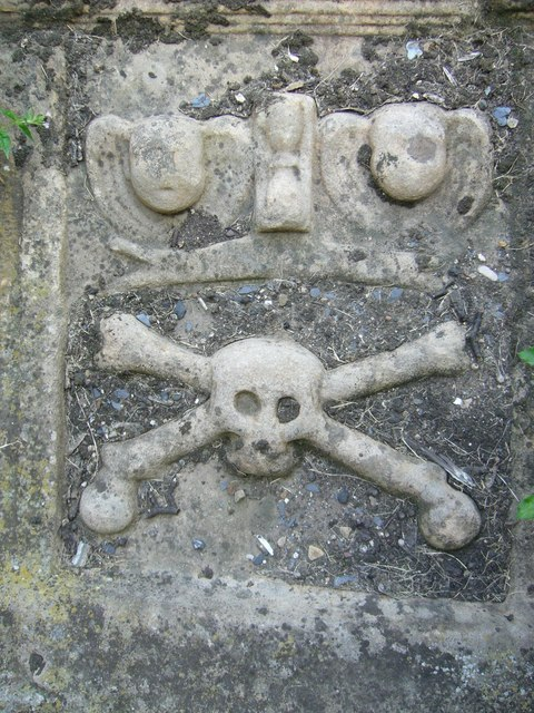 18thC tomb sculpture, Tranent kirkyard