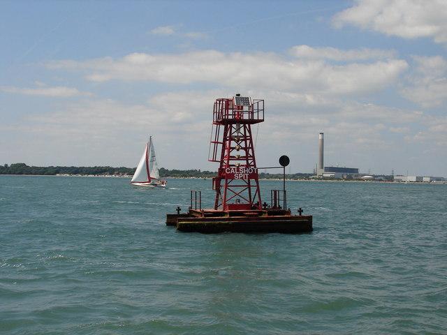 Calshot Spit catamaran buoy