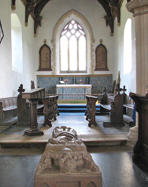 St Martin's church in Houghton - the chancel