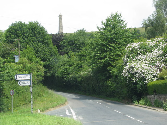 The monument on Nibley Knoll above the road junction at Southend