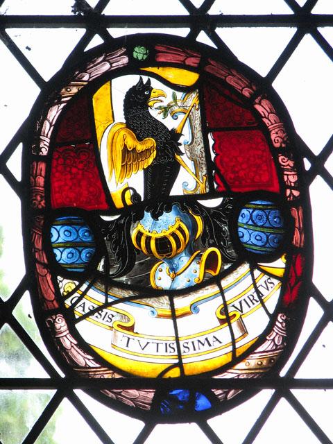 St Martin's church in Houghton - heraldic glass