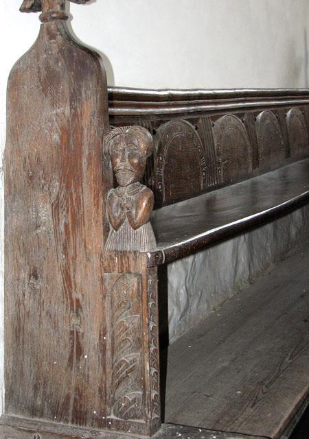 St Martin's church in Houghton - C17 bench