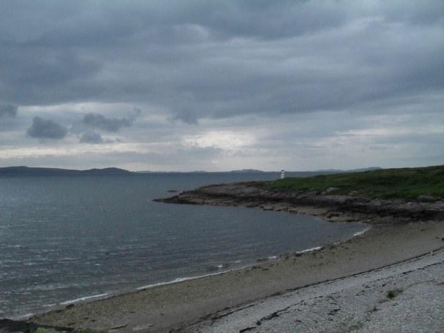Shingle beach at Rhue