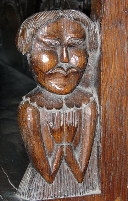 St Martin's church in Houghton - C17 bench end