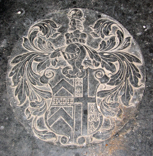 St Martin's church in Houghton - ledger slab (detail)