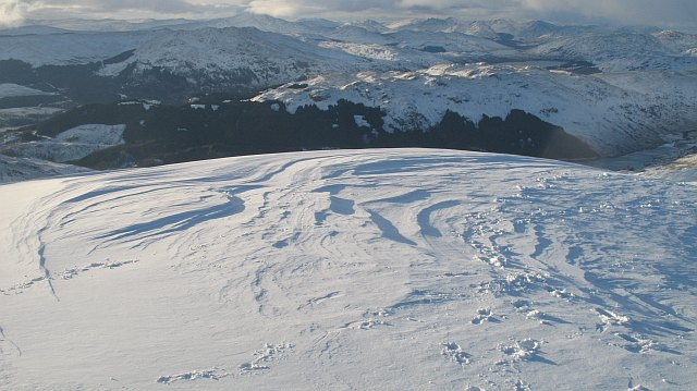 Wind sculpted snow, Ben Ledi