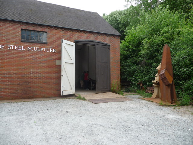 Coalbrookdale Open Air Museum of Steel Sculpture workspace