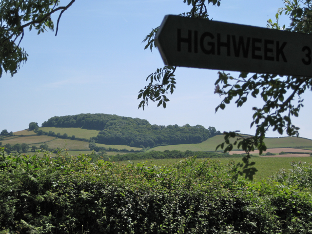 View of Denbury Down from Metley Cross