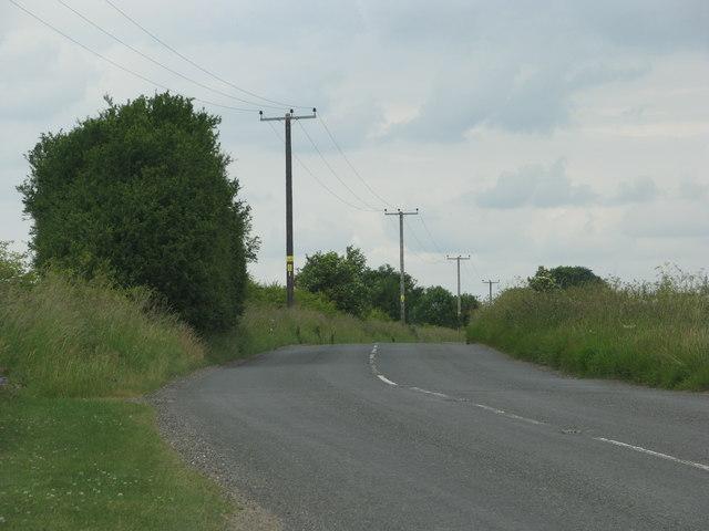 The B4070 near Bidfield Farm