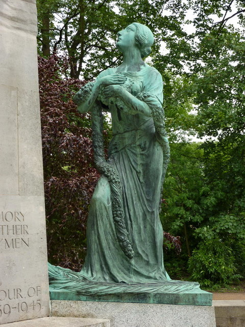 Towneley Hall War Memorial, Detail