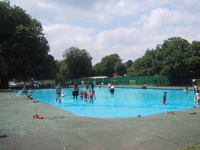 The paddling pool in Clissold Park