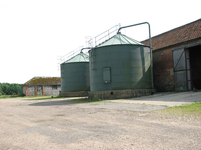Silos at Hall Farm, West Rudham