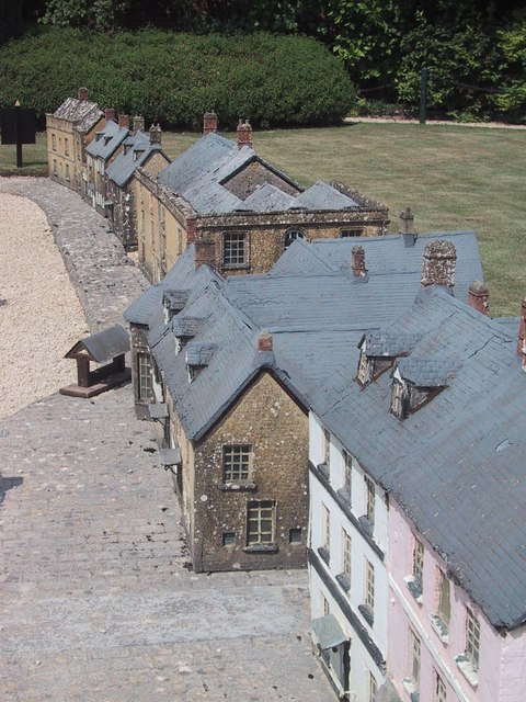Model of Woodstock village in the Lower Park, Blenheim