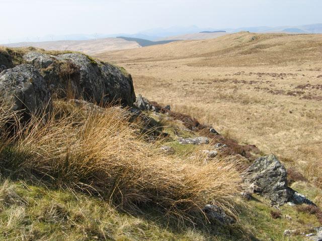 Rock outcrop, Mynydd Lluest Fach