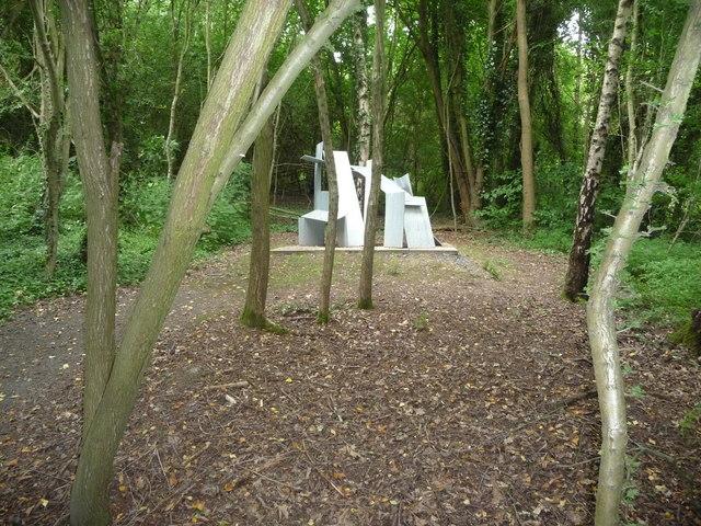 Steel sculpture in Coalbrookdale Open Air Museum of Steel Sculpture