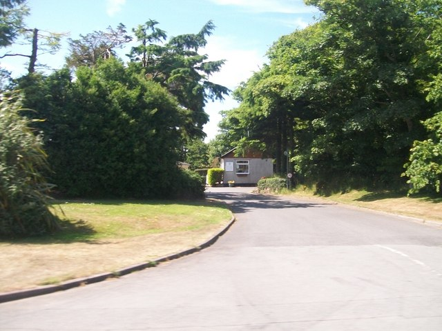 The entrance to the Crugan Caravan Park