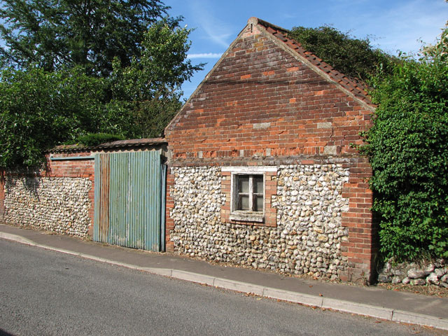 Shed backing onto Bagthorpe Road, East Rudham