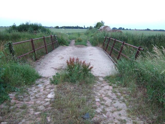 Bridge to farmland