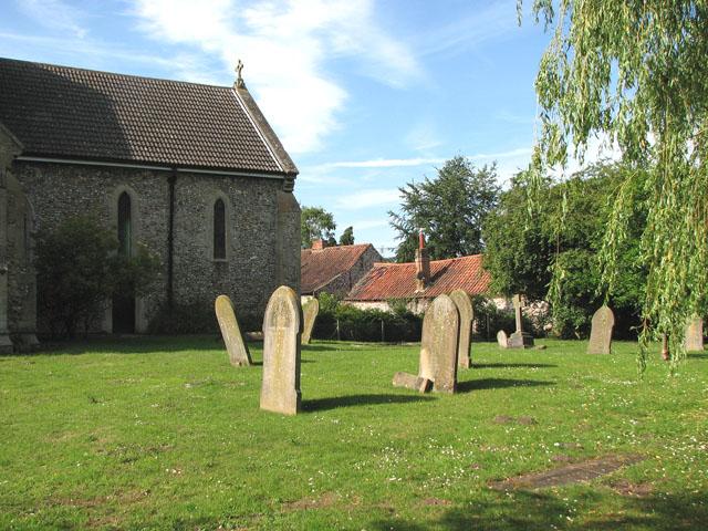 St Mary's church in East Rudham - churchyard