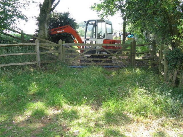 Mechanical barrier at gateway near Upper Norwood