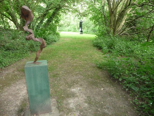Steel sculptures in Coalbrookdale Open Air Museum of Steel Sculpture