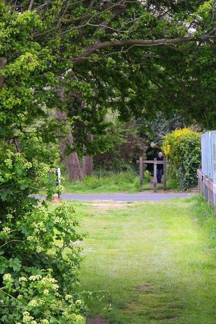 The coastal path skirts round Warners Holiday Village