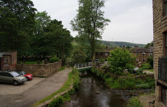 The River Tame at Delph