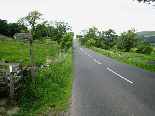 The A689 road near Harbut Law