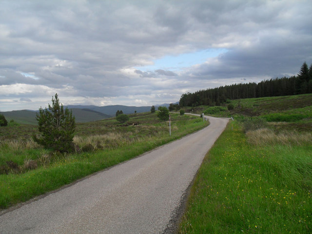 A837 near Loch Craggie