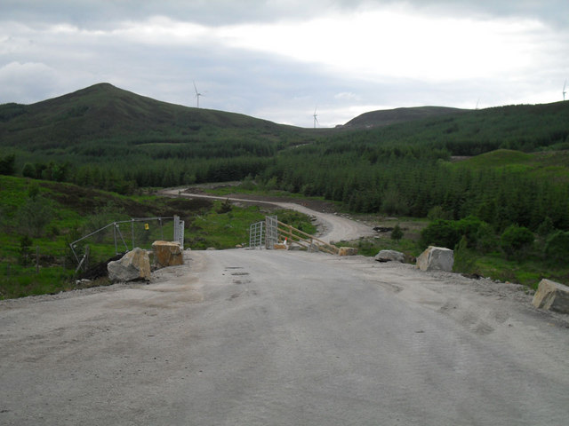 Entrance to Achany windfarm