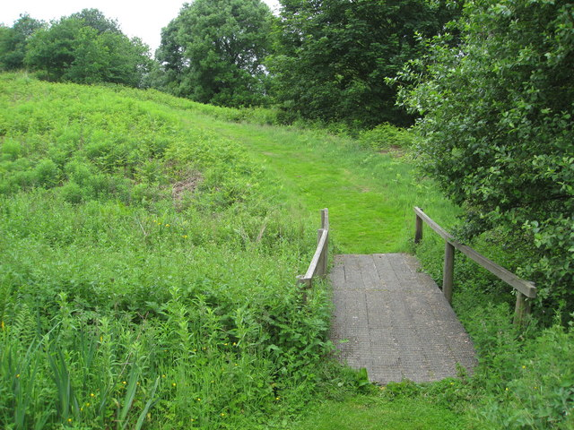 Footpath through Snipe Dales Nature Reserve