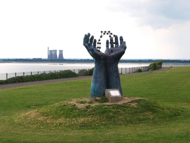 Hands & Molecule Sculpture