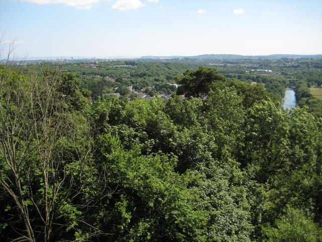 View south from Castell Coch