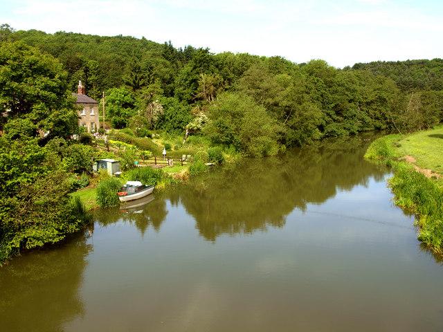 The River Derwent at Kirkham Abbey
