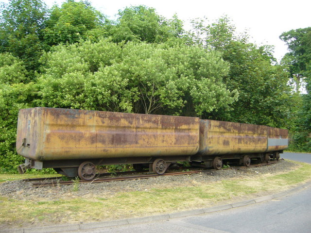Old coal trucks at Prestongrange Mining Museum