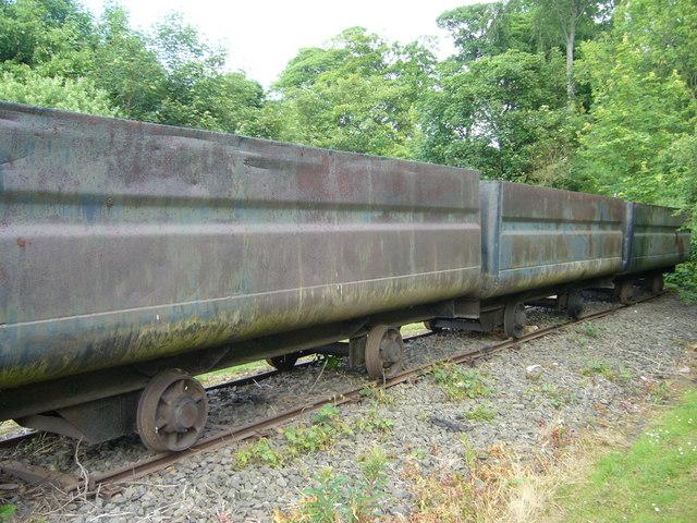 Old coal trucks at Prestongrange Mining Museum