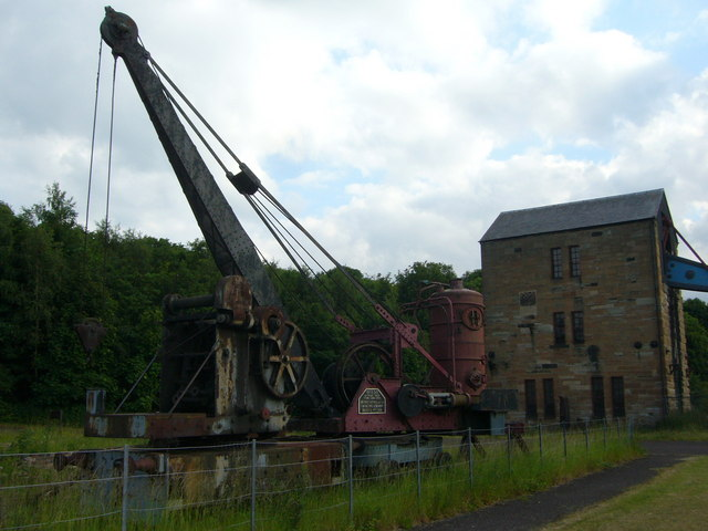 Steam crane at Prestongrange Mining Museum