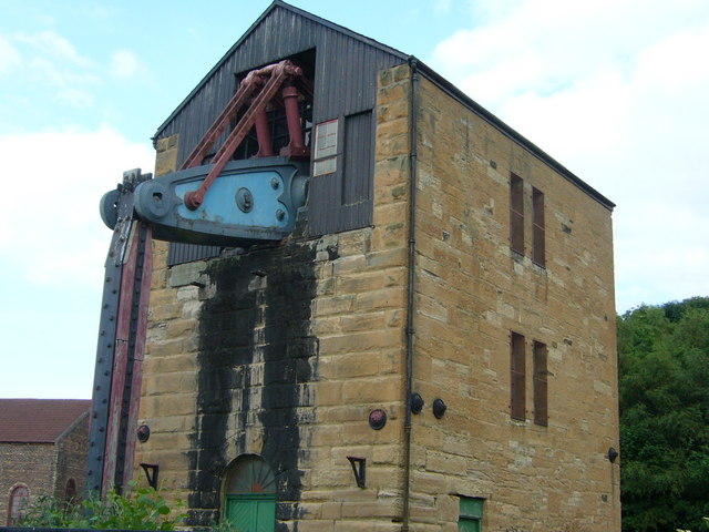 Beam engine at Prestongrange Mining Museum