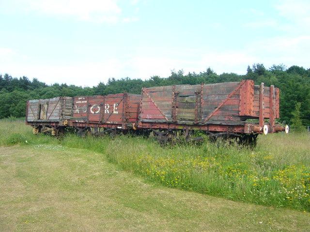 Old rolling stock at Prestongrange Mining Museum