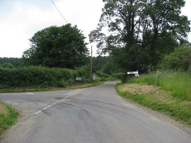 Road junction approaching Langton