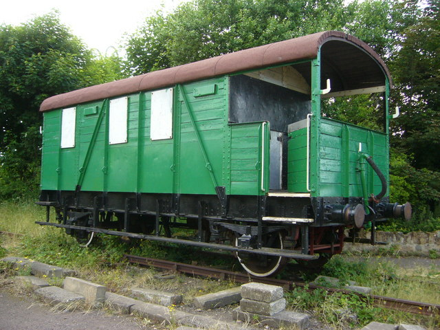 Old railway wagon at Prestongrange Mining Museum