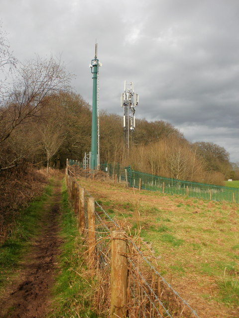 Mobile phone masts, Lodge Wood, Caerleon