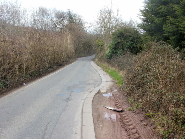 Narrow section of Pillmawr Road, Caerleon