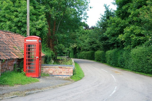 Telephone box in Bulcote
